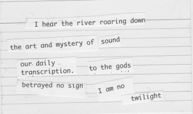 I hear the river
