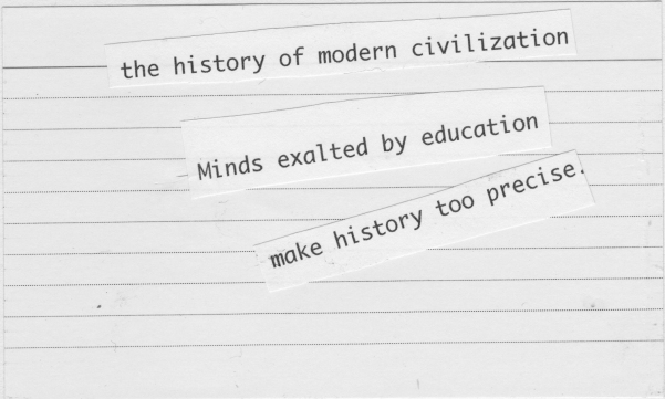 the history of modern civilisation